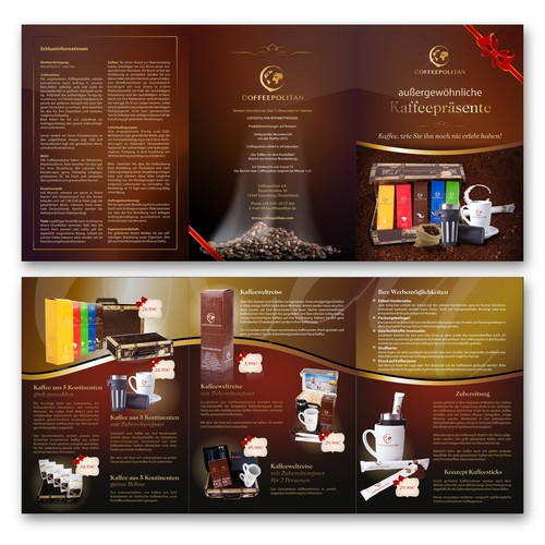 Brochure for extraordinary coffee gifts