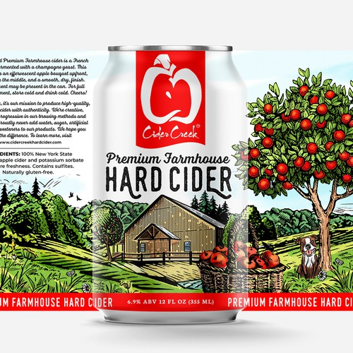 Cider Creek HardDesign a modern - heritage hard cider label for nationally awarded cider brand