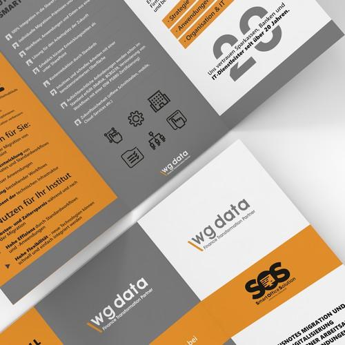 WG DATA flyer design