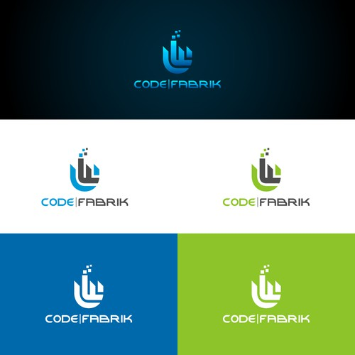 iconic and stylist logo for CODE FABRIK