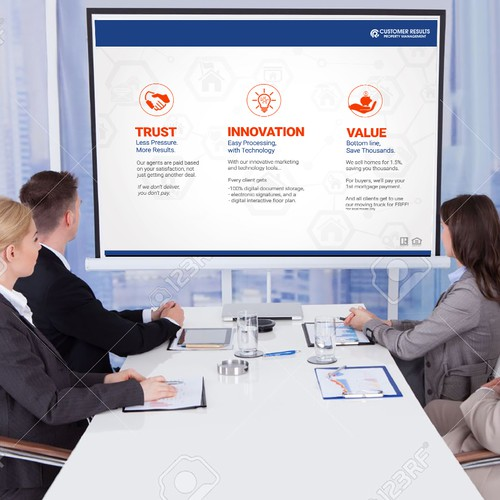 Powerpoint template for Customer Results Real Estate company
