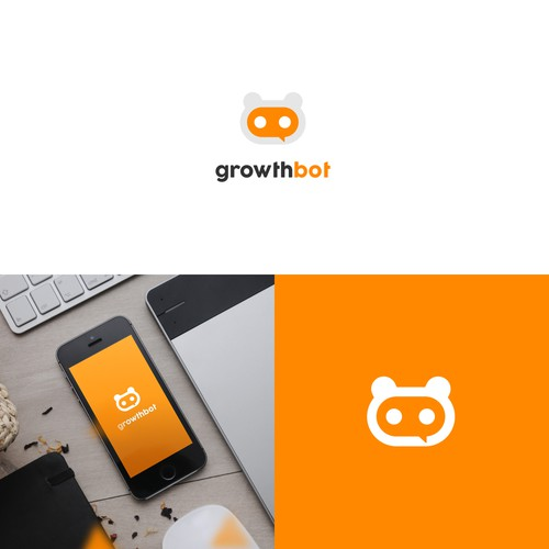concept logo for online marketing chat
