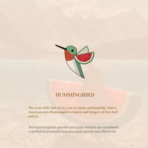 Logo design for Hummingbird watermelon