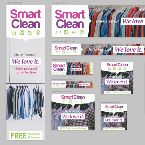 Banner ads for a Cleaning Service