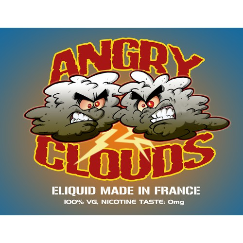 "Create the New Eliquid Sticker "" ANGRY CLOUDS """