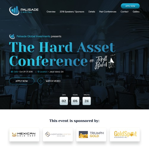 Website for Palisade Hard Asset Conference