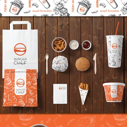 Packaging for Burger Chef