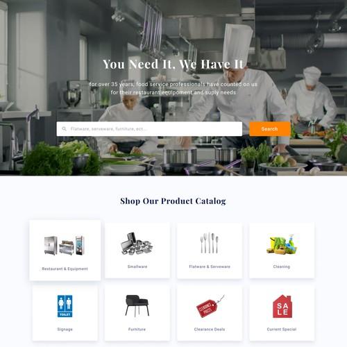 Web design concept for Action Sales