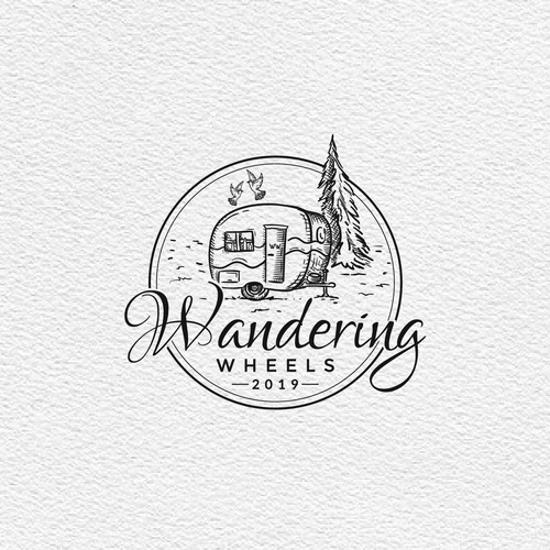 Wandering Wheels logo design