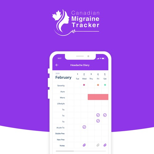 Migraine Tracker app