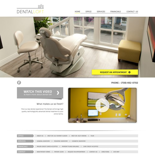 Modern Dental Office Website