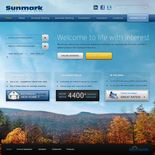 Sunmark Federal Credit Union - Website Design