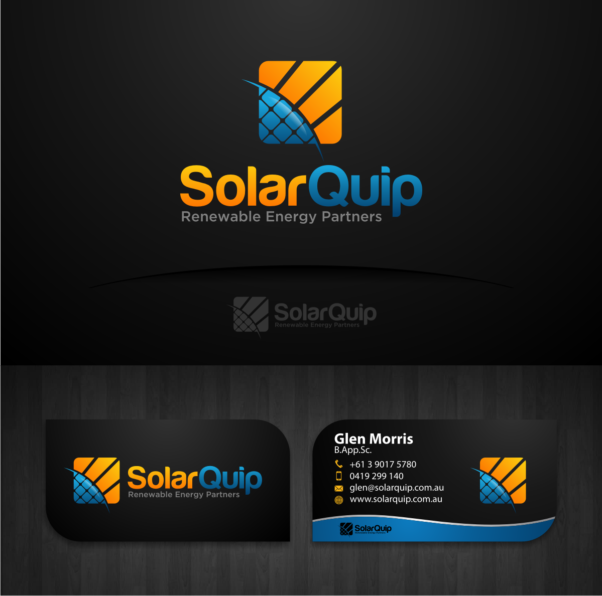 SolarQuip needs a new logo and business card