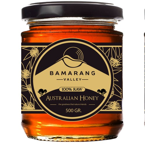 Bamarang Valley Organic Honey Label Design