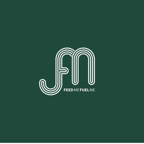 fm monogram for feed me fuel me logo