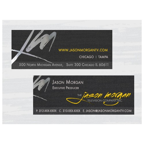 Stationery for The Jason Morgan Television Company, Inc.