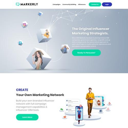 Influencer Marketing Strategists website design