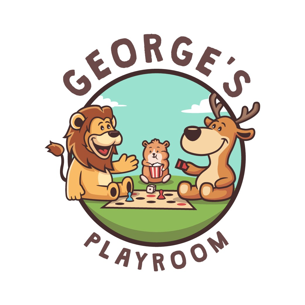 A children's board game center needs a logo full of love and pleasure.