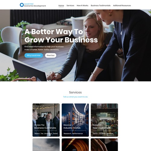 Redesign a landing page for cities across North America