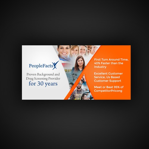 Email banner concept for PeopleFacts