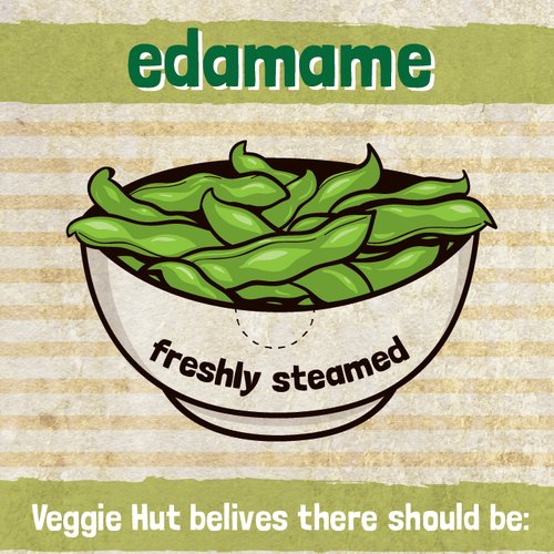 Label for Veggie Hut!
