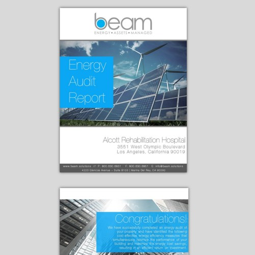 Client Report Template for Energy Company