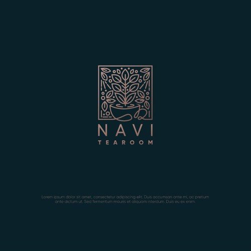 Logo design for a tearoom named Navi