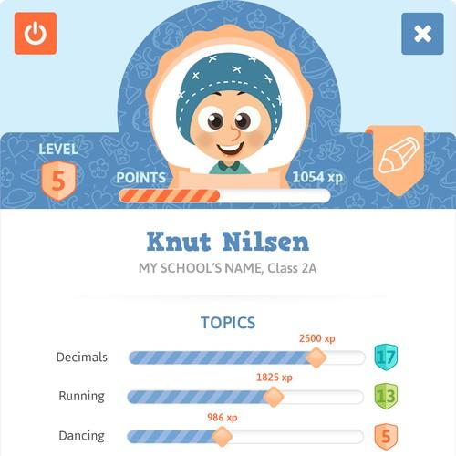 RPG profile for learning App