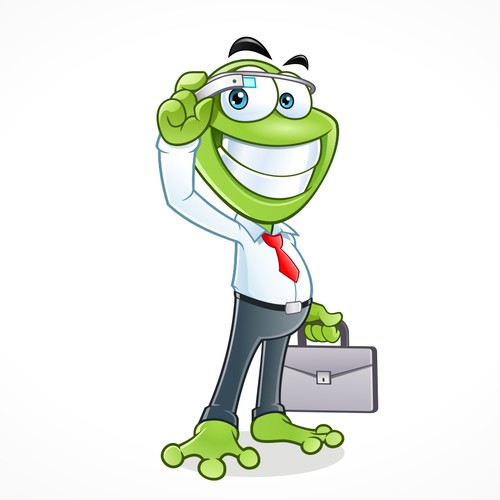 Create A Happy Business Frog For Tech Startup