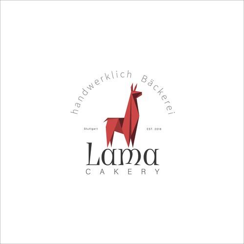 Lama logo for bakery