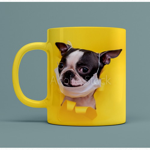 Design of coffee mug with stock photo