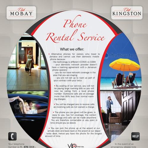 VIP Phone Rental Service Flyer/ Brochure