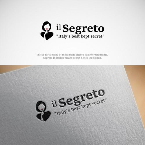 Negative space logo design for il Segreto.