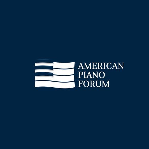 American Piano Forum logo concept