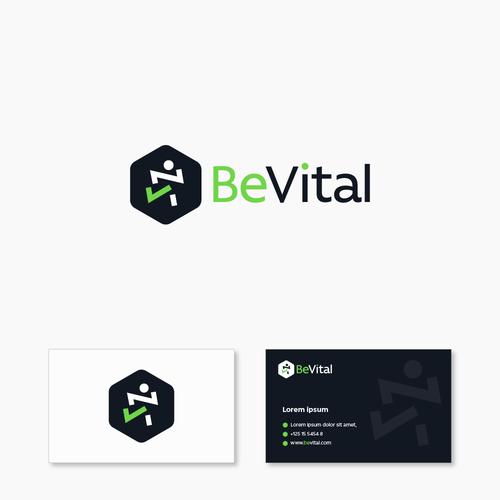 Be Vital Logo and Bcard design