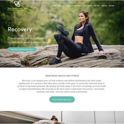 Fitness Website for The Rekovery MD