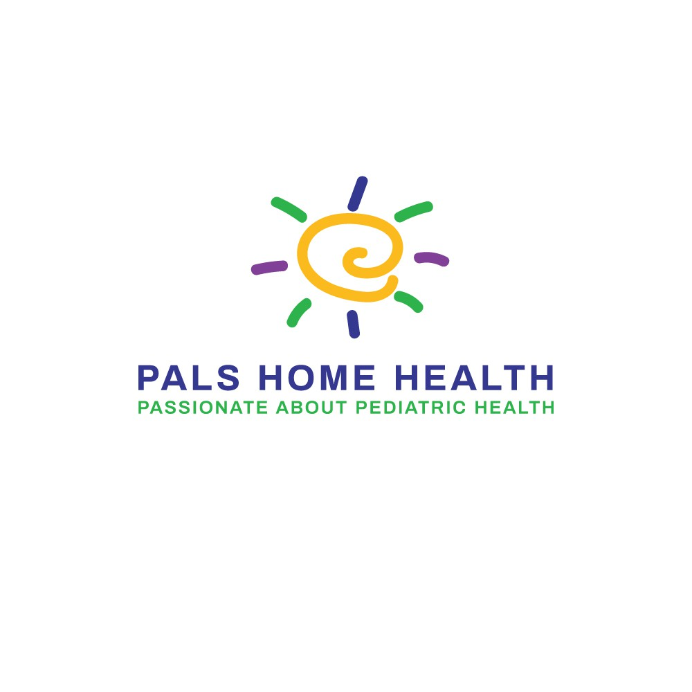 Colorful and fun child home care logo