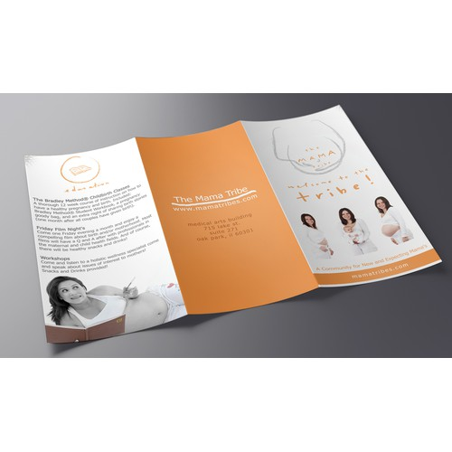 Create a brochure for a prenatal/postnatal studio!