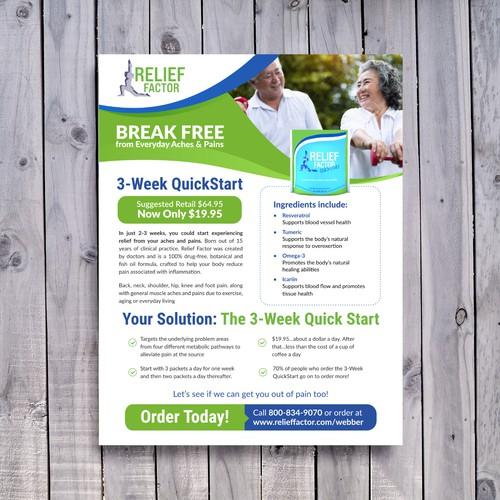 Relief Factor Flyer Design