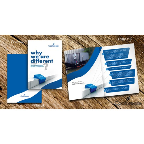 Help Coolbreeze HVAC Rental Services with a new sales brochure