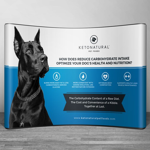 Backdrop wall design for KetoNatural Pet Food
