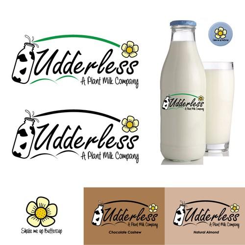 Logo concept for a milk company