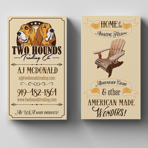 Two Hounds Trading buisness card