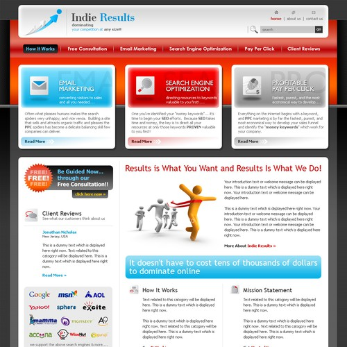 Indie Results Needs A Website Guaranteed Contest