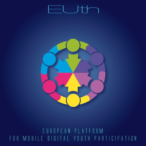 Create a captivating logo for a new european platform for mobile digital youth participation