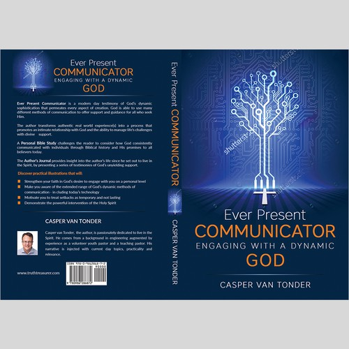 Design a sophisticated but vibrant looking Christian book cover