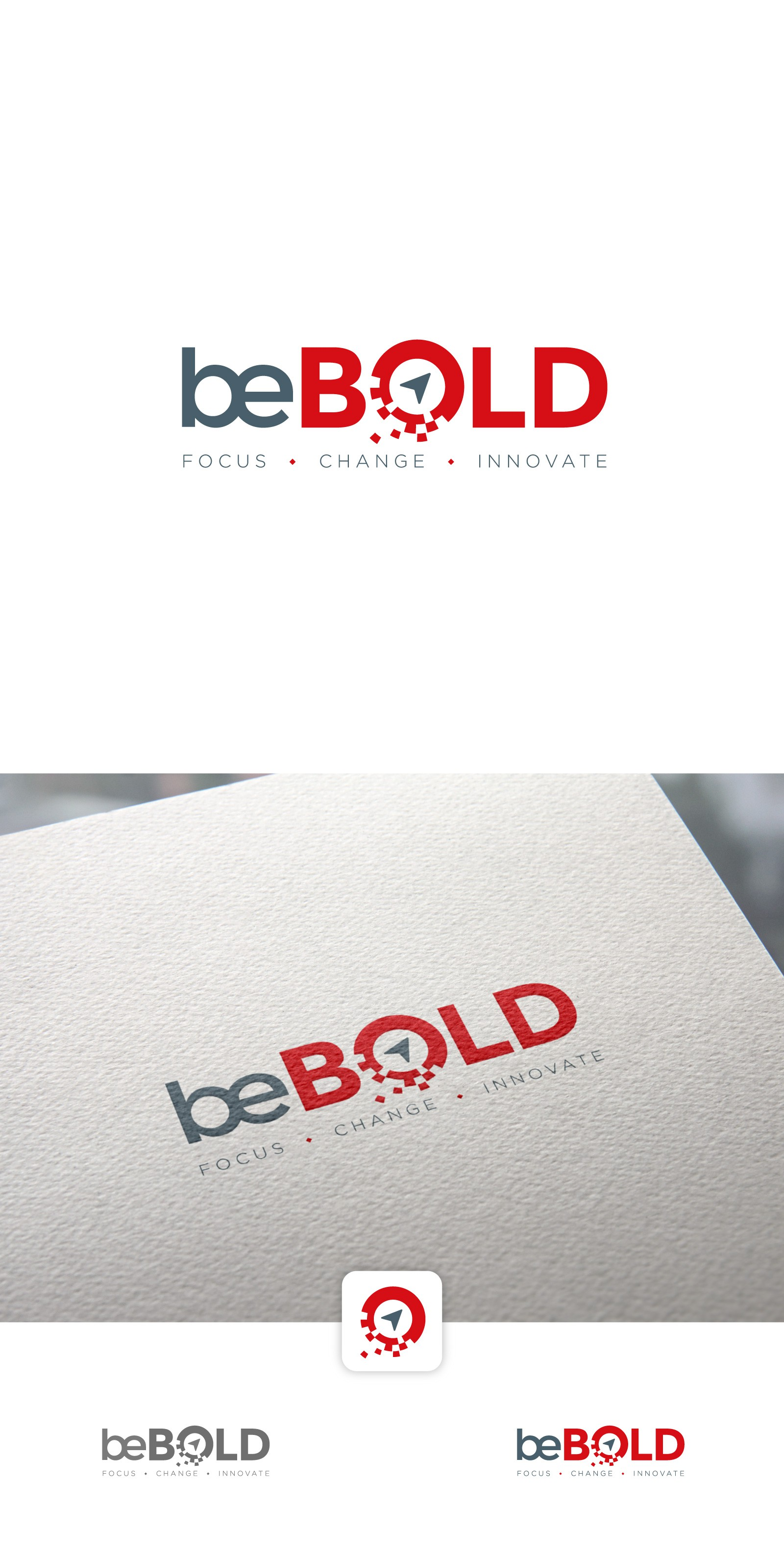 Create a bold logo for a digital consulting company