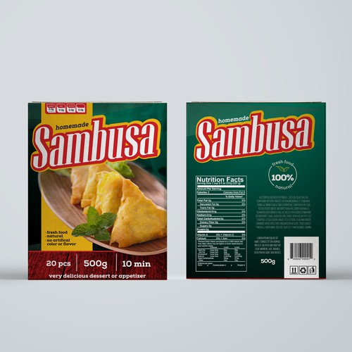 Sambusa - packaging