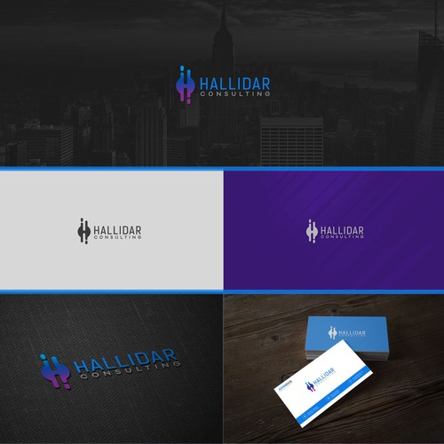 Sophisticated logo for HALLIDAR CONSULTING