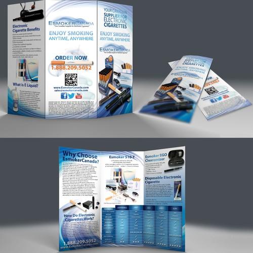 brochure design for EsmokerCanada